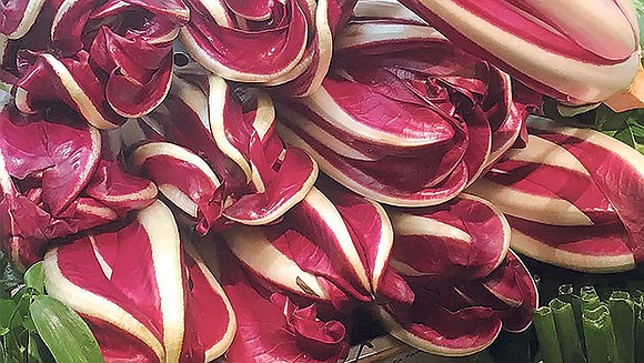 This simple combination pairs the bitterness of the radicchio with the different kind of bitterness of grapefruit, creating a continuum ...