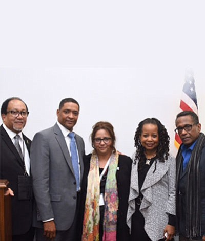 Congressman Cedric Richmond (LA-02), the Chairman of the Congressional Black Caucus, and other caucus members met with the National Newspaper ...