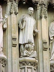 A Man Martyred…  King is one of 10 world martyrs of the 20thcentury who are depicted in life-size statues at the entrance of Westminster Abbey in London.