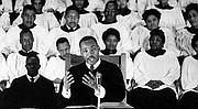 """A Man of Both Faith & Talent from an Early Age…  In 1939, 10-year-old King sang in his father's church choir at the Atlanta gala premiere of the movie """"Gone with The Wind."""""""