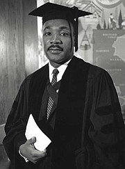 A Man of Scholarly Pursuits…  King earned a bachelor's degree in sociology and one in theology. In 1955, he received his doctorate from Boston University.