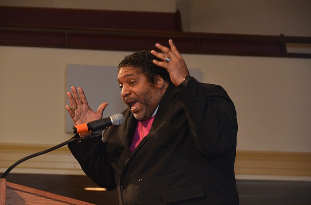 Rev. Dr. William Barber fired up the crowd at Mississippi Boulevard Christian Church on April 4.