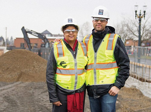 Small, minority-owned businesses still have the opportunity to participate in the retail mix at Alberta Commons, now under construction at ...