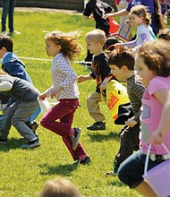 Kids take off in search of candy eggs during the Oregon Zoo's annual spring 'Rabbit Romp' celebration. This year's event takes place the day before Easter on Saturday, April 15, from 9:30 a.m. to 3 p.m.
