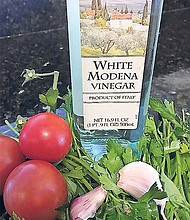Enthusiasts consider white Modena vinegar to be an alternative to traditional red balsamic vinegar for those times when you want that sweet, tangy, balsamic-y complexity without the red color.