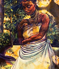 Boston painter and illustrator Stephen Hamilton portrays people he has met in his travels as Yoruba gods and goddesses.