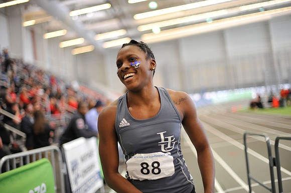 Sprinter and hurdler Shantae McDonald of Long Island University wasn't that happy with her performances at the start of outdoor ...
