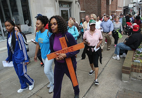 A coalition of North Side churches is hosting Stations of the Cross along Brookland Park Boulevard from 3 to 4 ...