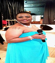 """Well-known comedienne Pamela Hill, whose performance name is """"Miss Maybelle,"""" has survived a heart attack and two strokes.  Hill during """"Miss Maybelle's Full-Figured Fashion Show,"""" which was held recently  at the Forest Park Senior Center."""
