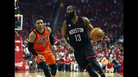 In Game 1 of the marquee matchup between teammates-turned-MVP frontrunners Russell Westbrook and James Harden on Sunday night, the latter ...