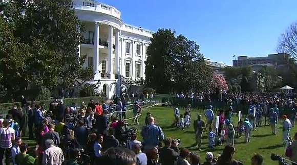 Eggs are rolling -- nearly 18,000 of them -- Monday at the White House.