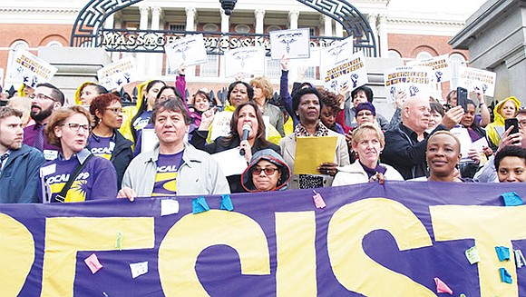 Members of several SEIU chapters called for residents to stay attentive to policy emerging from the federal administration and be ...