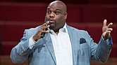 Pastor John Gray speaks on stage at The House Of Hope Atlanta on July 24, 2016 in Decatur, Georgia. Marcus Ingram/Getty Images.