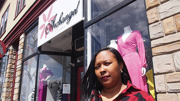 Archangel Boutique owner Lashonda Jefferson opened shop in 2007 in Lower Mills, attracted to the foot traffic in the neighborhood business district.