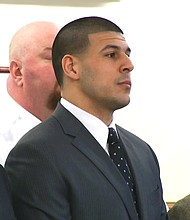 Convicted murderer and former NFL star Aaron Hernandez was found hanged in his Massachusetts prison cell Wednesday morning, officials said, just days after he was acquitted in a separate murder case.