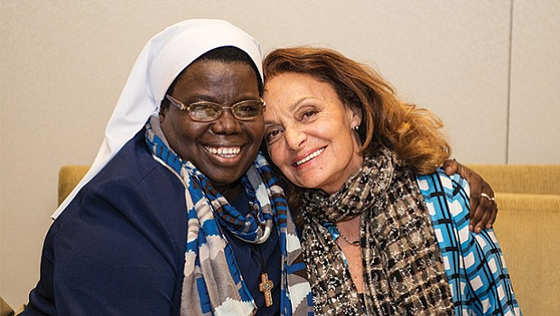 Sister Rosemary Nyirumbe and Diane von Furstenberg were among the speakers at this year's 38th annual Simmons Leadership Conference (April 13).