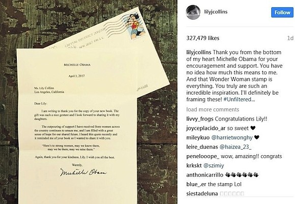 And you thought you were having a good week. Actress Lily Collins took to Instagram to express her excitement about ...