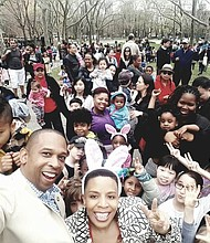 Council Member Laurie Cumbo at Easter Egg Hunt in Fort Greene