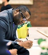 Tito Jackson signs nomination papers to run for mayor. Credit: Tito Jackson Facebook photos.