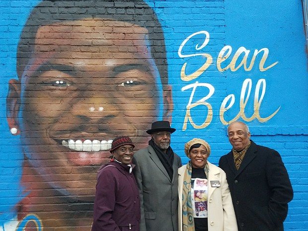 Councilwoman Inez Barron, Valorie Bell, William Bell and Assemblyman Charles Barron