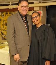 Geoffrey Easton and Justice Sheila Abdus Salaam