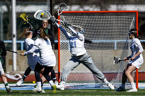 Lacrosse is a fast and furious sport, and Columbia University's women's team is picking up its pace. The team's goalkeeper, ...