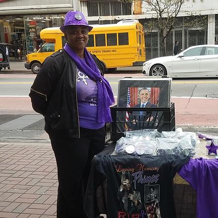 Prince fan on 125th Street in Harlem