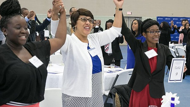 """At TSU, the """"Donor Appreciation"""" event links scholarship recipients with those helping them meet financial needs.  (Photo: John Cross, TSU Media Relations)"""