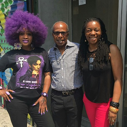 (l to r) Caran Menadry, Billy Mitchell of the Apollo Theater and AmNews Editor Nayaba Arinde