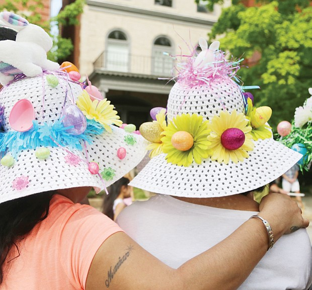 See and be seen at Easter on Parade // Colorful Easter bonnets were plentiful during the event and a favorite among the celebration's faithful,