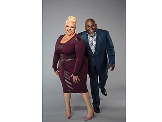"Tamela and David Mann play father and daughter on ""Tyler Perry's Meet the Browns,"" but in reality, they are husband and wife."