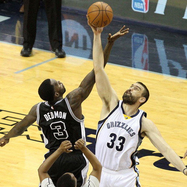Marc Gasol came up big against the Spurs in Game 3, scoring 21 points. (Photo: Warren Roseborough)
