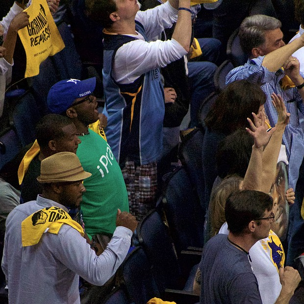 For Grizzlies fans, the 110-108 OT victory was an energy-wrenching affair stamped with the thrill of victory.  (Photo: Karanja A. Ajanaku)