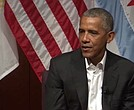 Former President Barack Obama made his first public remarks since leaving office during a forum at The University of Chicago on Monday.