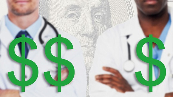 African-American physicians earn 15 percent less than White physicians—an average of $262,000 compared to $303,000—according to Medscape's 2017 Physicians Compensation ...