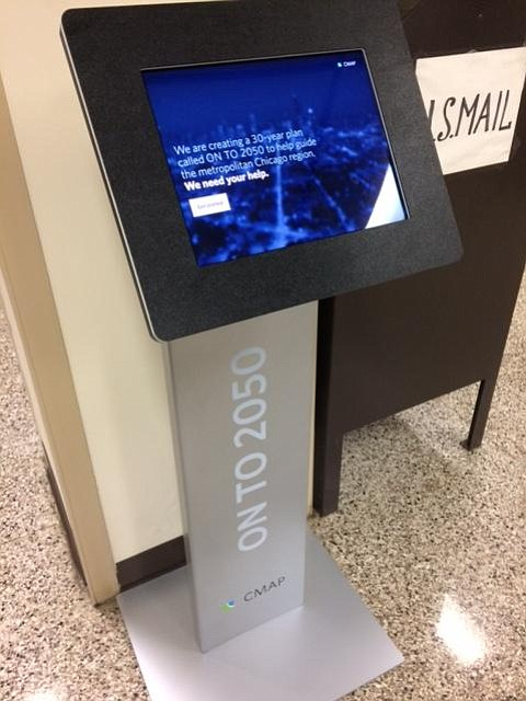 Residents can offer their feedback on long-range planning at a kiosk in the Will County building.