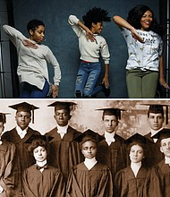 "(top) Tayla Solomon (from left) Cori Granger and Blessin Giraldo from the documentary ""Step."" (bottom)   Black colleges in America have educated the architects of freedom movements and cultivated leaders in every field for generations. The long overdue piece of history is told in the new documentary ""Tell Them We Are Rising: The Story of Black Colleges and Universities."""