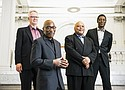 Jazz composer and pianist Darrell Grant and his MJ New Quartet comprised of Marcus Shelby on bass, Mike Horsfall on the vibraphone and Carton Jackson on drums, kick off a two week string of Oregon performances Sunday, April 30 for International Jazz Day at the Portland Art Museum.
