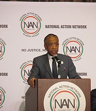 Rev. Al Sharpton speaks at the National Action Network National Convention