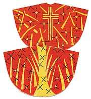 """""""Maquette for red chasuble (front and back) designed for the Chapel of the Rosary of the Dominican Nuns of Vence."""""""