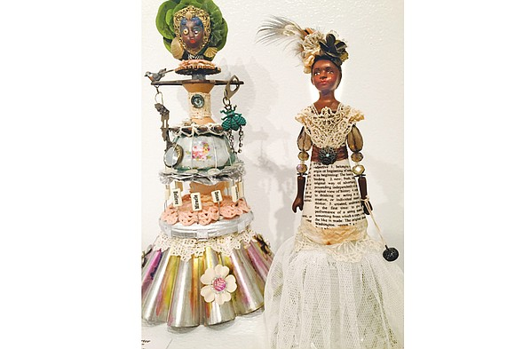 """Local artists using recycled materials in their work will be featured this month during an exhibit, """"Discarded: Recycled Items as ..."""