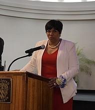 Z-Hope Honoree Glassboro Councilwoman Anna Miller speaks