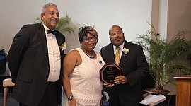 Z-Hope Honorees from South Jersey Journal - Al Thomas and Irv Randolph. Omicron Omicron Zeta chapter member Priscilla Wims-Greene.