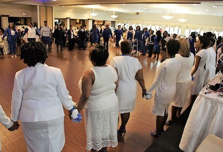 Members of Omicron Omicron Zeta Chapter of Zeta Phi Beta Sorority, Inc. and members of visiting Zeta chapters join together to represent Sisterhood and finer womanhood.  While in the circle the members sing the sorority's hymn to show their love for Zeta and to honor their Founders.