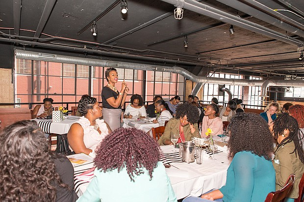 Cassandra N. Vincent, Creator of the Vision+Strategy Brunch series addresses March 2017 attendees.