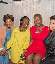 (L-R) Kendra Barnes, Chianti Lomax, Tameka J. Harris, and Neffi Walker during VSB March 2017. Photo: Jerri Marie Clark Photography