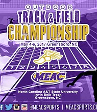 The Mid-Eastern Athletic Conference (MEAC) will host the 2017 Men's and Women's Track & Field Championships Thursday through Saturday, May 4-6, at the Irwin Belk Track on the campus of North Carolina A&T State University in Greensboro, N.C.