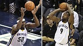 Left: It's a good thing Zach Randolph developed an old man's game — especially now that he's aging.