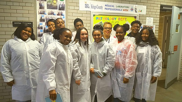 "Thursday, April 27, NYC Health + Hospitals/Kings County participated in the international campaign, ""Take Our Daughters and Sons to Work ..."