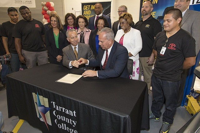 Toyota Tarrant County >> Toyota Partners with Tarrant County College to Launch Industry-Leading T-TEN Training Program ...